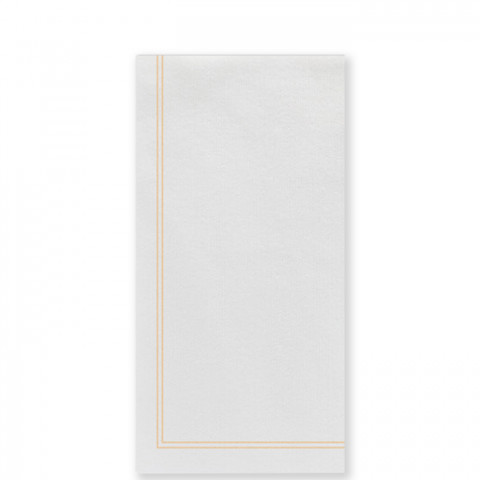 Papersoft Napkins Linea Yellow Guest Towels (Pack Of 50) - 7.75 in. l, 4.5 in. w (Folded) 15.75 in. l, 13 in. w (Flat) | Gracious Style