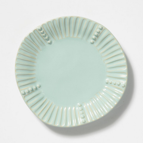 Incanto Stone Aqua Stripe Salad Plate | Gracious Style