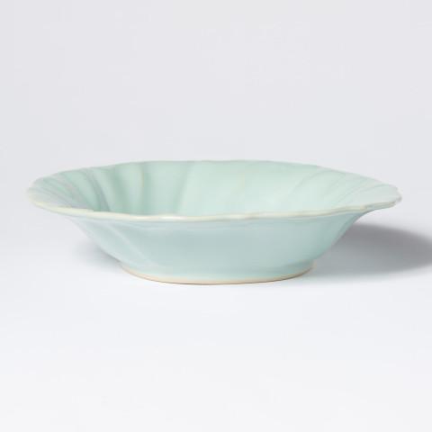 Incanto Stone Aqua Ruffle Pasta Bowl | Gracious Style