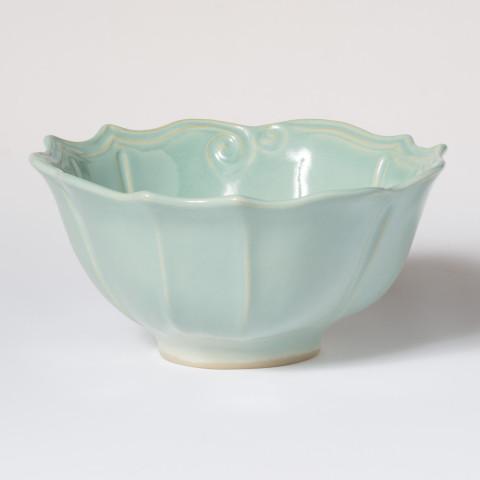 Incanto Stone Aqua Baroque Medium Serving Bowl | Gracious Style