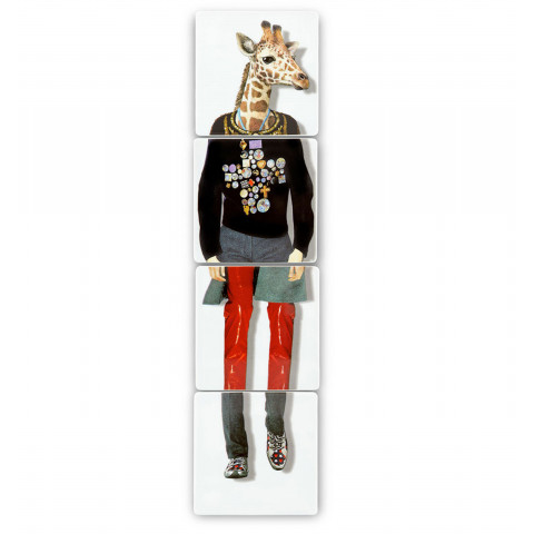 Christian Lacroix Love Who You Want Set Of 4 Coasters (Giraffe) | Gracious Style