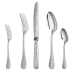 Jardin d'Eden Silverplated 48 Standard Pieces Set for 12 people in Chest (12x: Standard Fork, Standard Knife, Standard Spoon, After Dinner Teaspoon)   Gracious Style