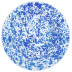 Splatter Blue and White Enamel Pasta Plate 10.5 in | Gracious Style