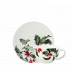 Holly Breakfast Cups & Saucers Cup 4 5/16 in. , 10 1/8 Oz, Saucer 7 1/16 in.  Dia Set Of 2 | Gracious Style
