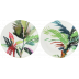 Jardins Extraordinaires Vegetal Canape Plates Assorted 6 1/2 In Dia, Set Of 4 | Gracious Style