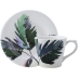 Jardins Extraordinaires Vegetal Single Set Tea Cup & Saucer 7 7/16 In Oz - 3 1/16 In H | Gracious Style