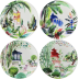 Jardins Extraordinaires Canape Plates Assorted 6 1/2 In Dia, Set Of 4 | Gracious Style