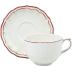 Filet Rouge Jumbo Cup & Saucer 11 Oz - 7 1/2