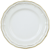 "Filet Or/Gold Dessert Plate 9"" Dia 
