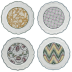 Dominote Dessert Plates Assorted 9 1/8  in.  Dia Set Of 4 | Gracious Style