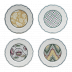 Dominote Canape Plates Assorted 6 1/2 in.  Dia Set Of 4 | Gracious Style