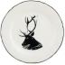 Chambord Dessert Plate Stag Portrait 9 1/4