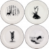 Chambord Dessert Plates Assorted 9 1/4 in.  Dia Set Of 4   Gracious Style