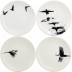 Chambord Canape Plates Assorted 6 1/2 in.  Dia Set Of 4   Gracious Style
