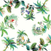 Jardins Extraordinaires Gardens Tablecloth 47 1/4 in.  Sq   Gracious Style