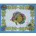 Aquarius Col.1 Original 15 x 19 in Placemat (Pack Of 2) | Gracious Style