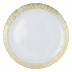 Rufolo Glass Gold Round Platter - 13.25 in. d | Gracious Style