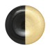 Two-tone Glass Black & Gold Dinner Plate - 10.75 in. d | Gracious Style