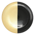 Two-tone Glass Black & Gold Platter - 13 in. d | Gracious Style