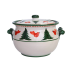 Uccello Rosso Biscotti Jar - 10.5 in. d, 5.5 in. h | Gracious Style