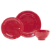 Fresh Red 3-piece Place Setting - 6 in. -10.75 in. d | Gracious Style