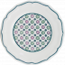 """Dominote Canape Plate Artifices 8 2/3"""" Dia 