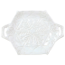 Incanto Stone Winterland White Snowflake Handled Platter - 17.5 in. l, 12.5 in. w | Gracious Style